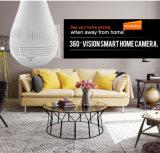 Macchina fotografica del IP della rete di WiFi del webcam della lampadina di Fisheye dai fornitori delle macchine fotografiche del CCTV