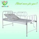 Lit en acier inoxydable One-Crank Hospital Bed SLV-B4011s