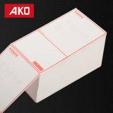 Sensibles térmico Impermeable Glassine Blanca camisa la etiqueta de dirección de papel térmico etiquetas de envío