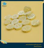O logotipo personalizado Branco Laser Mãe de Pearl Botão Shell