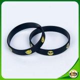 Kundenspezifischer Firmenzeichen-SilikonWristband mit Drucken