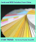 Gele Kaart Gemaakt tot Plastic Cr80 Norm