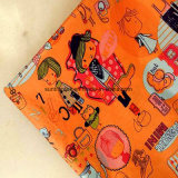 O poliéster Pongées Fabric com impressão, Down-Proof, Pulseira para a túnica de crianças