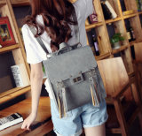 Lady Backpack PU Casual Lock Tassel Women Leather Backpack (WDL0911)
