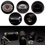 10W CREE T6 teleskopische Zoomable Aluminium-LED Taschenlampe (PAPPAS S12)