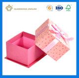 Очаровательный розовый подарок на день Святого Валентина поле бумаги с крышкой