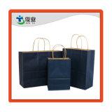 Impresión personalizada Eco friendly reciclar Plain Llevar grandes compras la bolsa de papel Kraft con asas de papel