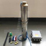 4 polegada de grande fluxo de água do sistema de bomba submersível Solar com controlador MPPT