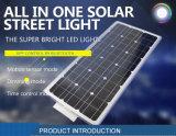 Nuevo diseño 20W en una sola luz de calle solar integrada
