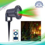 Indicatore luminoso esterno del giardino del laser della luce laser della decorazione di natale con l'indicatore luminoso impermeabile di telecomando LED
