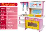 Conjunto de brinquedos de madeira de cozinha