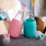 2018 novas chegadas sem BPA 450ml garrafa de água de vidro com luva de Silicone