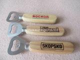 Apri di bottiglia di legno della maniglia di alta qualità su ordinazione per birra e vino