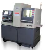 La pequeña máquina CNC torno horizontal de metal