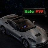 Signo de LED de alquiler de coche a todo color de pantalla, pantallas LED para mostrar publicidad