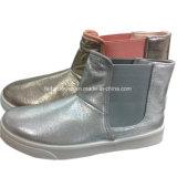 Venta caliente mujer botas de corte de inyección de mediados de los zapatos de ocio con elástico (YJ18515-8)