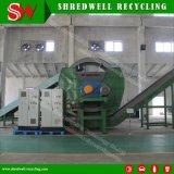 Una gomma residua/metallo/legno/plastica delle due aste cilindriche che ricicla strumentazione per il tagliuzzamento del sistema