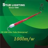 Couvercle étanche rouge et bleu 100lm/W T8 Tube lumineux à LED