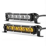 Voiture de LED 18W 12V FEU DE TRAVAIL jaune 7 pouces faisceau phare de travail Slim extrême Bar faisceau spot d'inondation Offroad lampe de conduite pour les tracteurs de Jeep