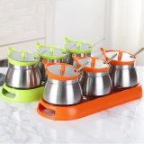 Крут/Spice/Condiment расширительного бачка с помощью набора для установки в стойку для хранения на кухне