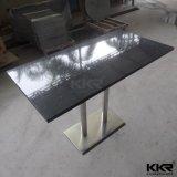 High Gloss раунда мраморным верхней части белого цвета кофе в таблице