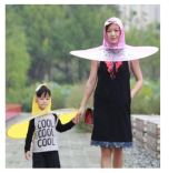 子供および大人の透過傘の帽子の子供のレインコート