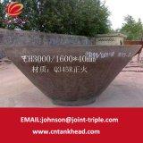 06-23 estremità conica spessa del acciaio al carbonio della parete di ASTM A283 gr. C con i luoghi di perforazione ID3000mm*40mm