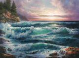 オイルの絵画海景
