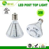 Poste LED 30W luz superior Jardín de Luz con base Inter-Changeable Clw06