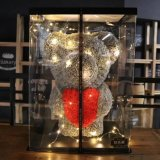 24 / 60cm fleur artificielle rose Ours d'amour pour décorer votre mariage
