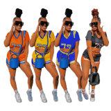 وصول جديدة نساء لباس طباعة باتشوور قصيرة [سبورتس] [سليغبم] اثنان - قطعة مجموعة من النساء المحضرين