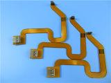 Recto-verso carte de circuit imprimé souple construit sur le polyimide avec contrôle d'impédance 90 Ohm