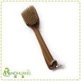 木の&Bamboo雄豚の剛毛が付いている乾燥したボディブラシの浴室のブラシ