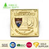 優れた品質のカスタム金属のSouvenir Challenge Coins銀によってめっきされる正方形米国の大統領