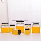 Hexagon-Honig-Marmeladen-Gelee-Glasgläser Wholesale