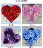 2018 nouveau style de la Journée des valentins cadeau romantique préservée dans le coeur de fleurs roses boîte cadeau