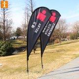 Содействие с одной стороны печати пуховые флаг с крестом на стенд (TJ-BF-006)