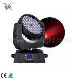 Etapa de 108 equipos de iluminación LED 3W RGBW Discoteca moviendo la cabeza de la luz de la etapa