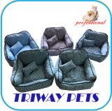 Alta Quaulity tecido impresso Cão Gato camas (WY1711073)