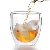 16oz/450mlカスタムロゴの高いQualtiyの明確なホウケイ酸塩ガラスのコーヒー・マグ