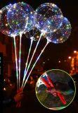 Huwelijk van de Partij van de Decoratie van de lichtgevende LEIDENE Bel van de Ballon het Transparante Ronde