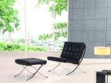 Designer de mobiliário de couro artificial Office Cadeira de Barcelona com Ottoman