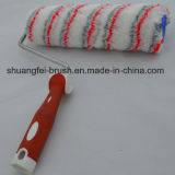 25cm Mehrfarben (rot u. grau) Acryllack-Rolle mit weichem Griff
