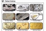 亜鉛合金によって浮彫りにされるカスタムロゴの金属の布のラベル