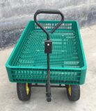 4 сада больших колес и фура пляжа сетки тележки инструмента фермы пластичной