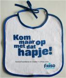 Il disegno personalizzato prodotti dell'OEM ha stampato la busbana francese bianca del Drool dell'alimentatore di Babywear del cotone sveglio del fumetto