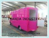 Type chariot de bus de vente de nourriture de rue