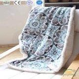 Одеяло зимы ватки Sherpa печатание толщиное