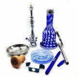 Große blaue GlasHuka Shisha mit vollständigen Huka-Zubehör (ES-HS-008)