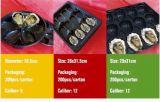 China-Lieferanten-biodegradierbare verpackende schwarze Plastiktellersegmente für Nahrung